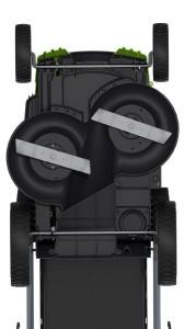 Greenworks Tools 40V Akku-Doppelmesser-Rasenmäher unten