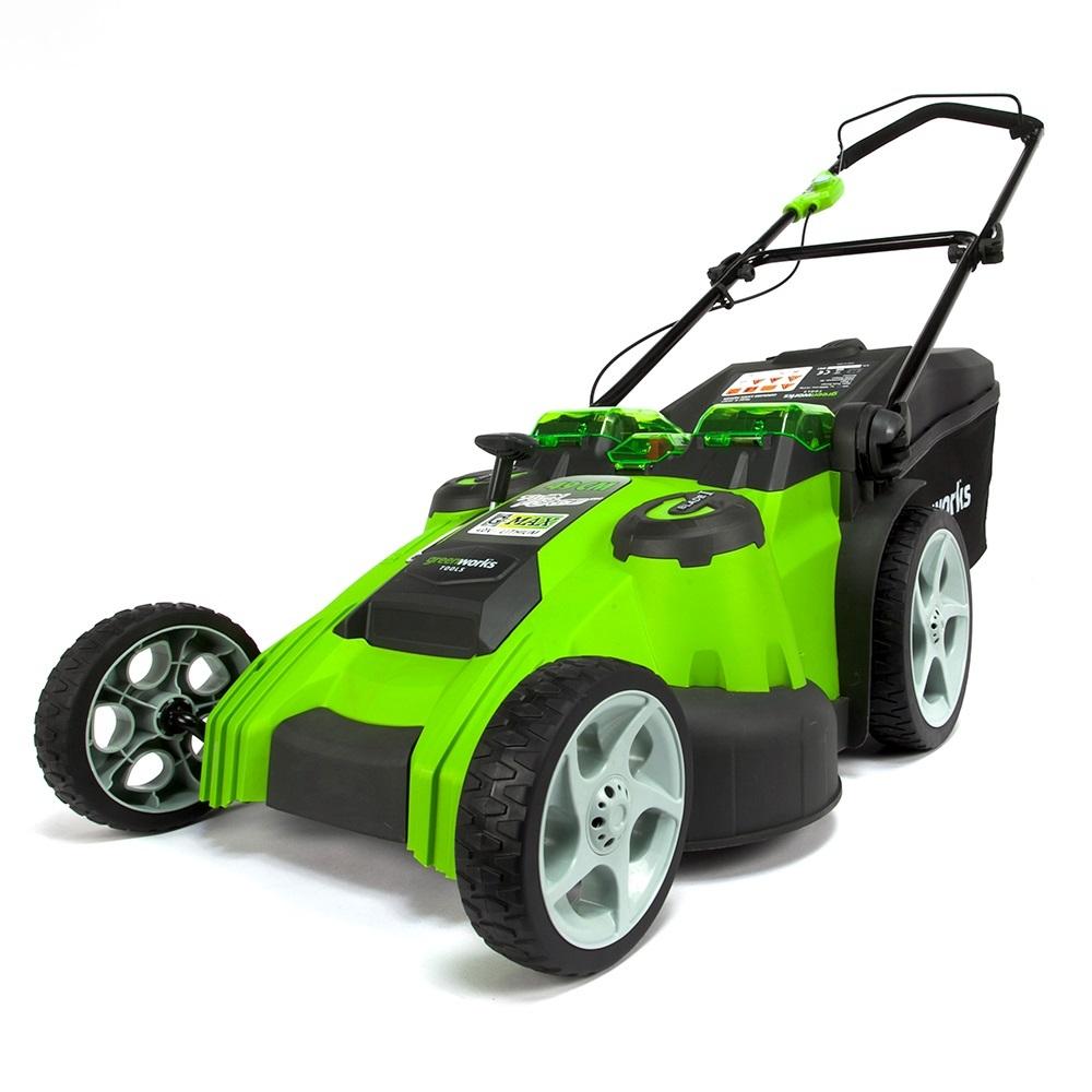 Greenworks Tools 40V Akku-Doppelmesser-Rasenmäher