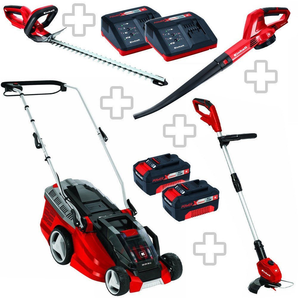 Einhell Power X-Change Garten Set XXL